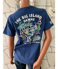 ALOHA MADE   半袖VネックTシャツ The Big Island 202MA2ST062【NAVY】