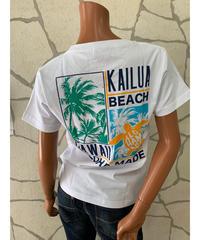 ALOHA MADE   半袖Tシャツ Kailua  Beach 202MA2ST068【WHITE】
