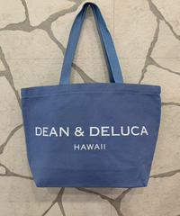 DEAN &  DELUCA  CANVAS LARGE TOTE  【BLUE】