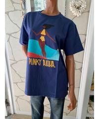 PUNKY ALOHA  MEN'S半袖Tシャツ  SURFFING BIG RED  202PA1ST035【NAVY】