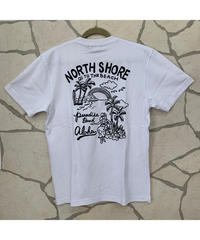 ALOHA MADE   MEN'S半袖Tシャツ   NORTH SHORE  203MA1ST232【WHITE】