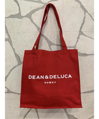 DEAN &  DELUCA  CANVAS TOTE  【RED】