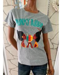PUNKY ALOHA  半袖Tシャツ  SHAVE ICE GIRLS 202PA2ST040 【GRAY】