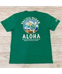 ALOHA MADE   MEN'S半袖Tシャツ Pacific Ocean 202MA1ST065【GREEN】