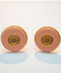 USED【HERMES】セリエレザーイヤリング ゴールド×ピンク