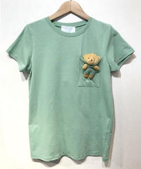 ITALY select クマチャームinTシャツ ミントグリーン