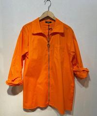 ITALY select  ストレッチジップシャツ  オレンジ