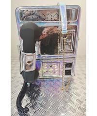 韓国セレクト 電話機型ホログラムバッグ シルバー