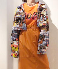 KOREA アメコミプリント ショート丈ジャケット
