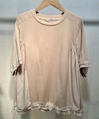 KOREA select 裾アジャスターフレアTシャツ  ベージュ