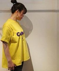 パイルロゴビッグTシャツ イエロー×パープル