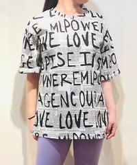 KOREA select 英字プリントTシャツ