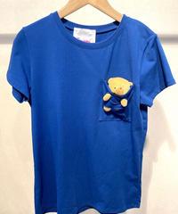 ITALY select クマチャームinTシャツ ダークブルー