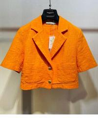 【RINASCIMENTO】コットンヴィンテージ風ショートジャケット オレンジ