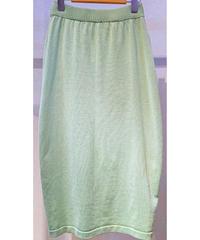 バッグシャーリングニットタイトスカート グリーン