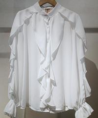 イタリア【ZETA OTTO】フリルブラウス ホワイト