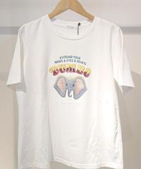 スパンコールダンボTシャツ  ホワイト