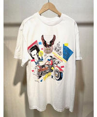KOREA select ヴィンテージ加工プリントTシャツ