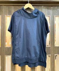 KOREA select 布帛切替フードTシャツ ネイビー