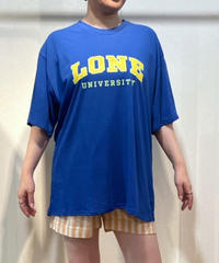 KOREA select「LONE」 ロゴTシャツ ダークブルー