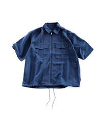 オーバーサイズジップシャツ