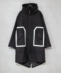 【MBLR】リメイクプリントモッズコート