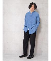 【COMOLI】バンドカラーシャツ