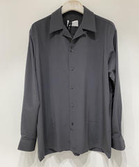 【RAINMAKER】OPEN COLLAR SHIRT / CHARCOAL