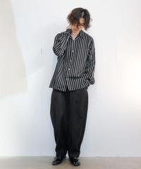 【MB】オープンカラーストライプシャツ