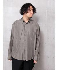 スモーキーカラーシルクシャツ