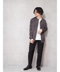 【LUCIOLE_JEAN PIERRE】nocollar open shirts(stripe)