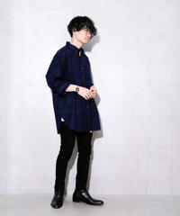 CLASSICAL CHECK SHIRT - NAVY