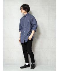 【ブルックスブラザーズ】チェックオックスフォードビッグシャツ