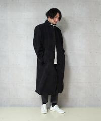 カシミア混ビッグサイズチェスターコート