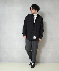 ブラックウールミリタリーシャツ(MBLR)