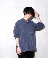 ビッグサイズバンドカラーシャツ