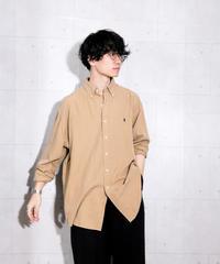【ポロラルフローレン】シルクコットンビッグシャツ