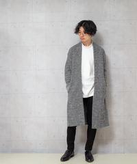 【KAZUYUKI KUMAGAI】新品未着用ニットツイードストールコート