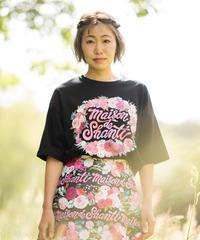 秘密の花園 ビッグシルエットTシャツ(ブラック)