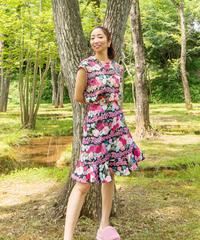 バタフライフリル ミドル丈スカート(6種柄)