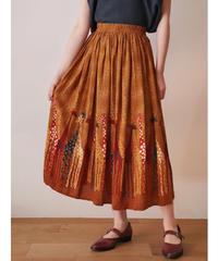 Giraffe design rayon skirt