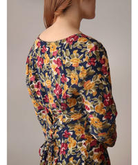 Flower pattern one-piece