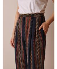 Ethnic design silk pant