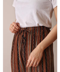Stripe pattern easy rayon pants