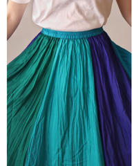 Multi colored silk skirt