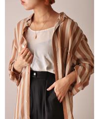 L/S stripe pattern shirt