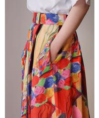 Art printed skirt