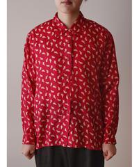 Bear pattern  silk shirt