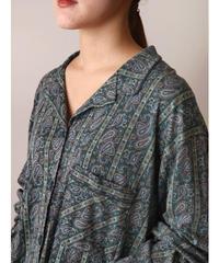 L/A paisley patten pajamas shirt
