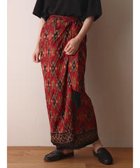 native pattern silk lap skirt